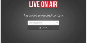 Password Protected Live Stream