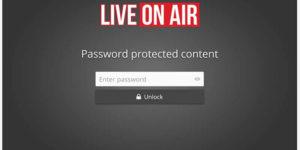 Password Protected Live Stream