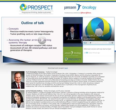 Prospect & Janssen Oncology live stream with Q&A