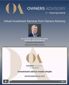 Live stream of the Owners Advisory Seminar for Macquarie Bank