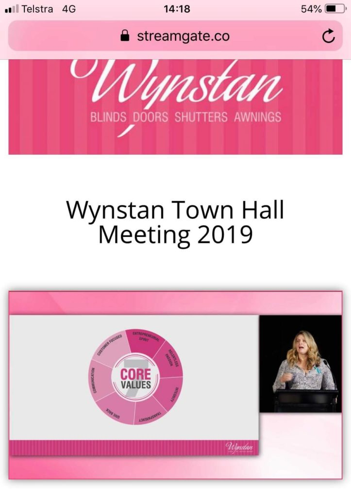 Wynstan Staff Town Hall Live Stream