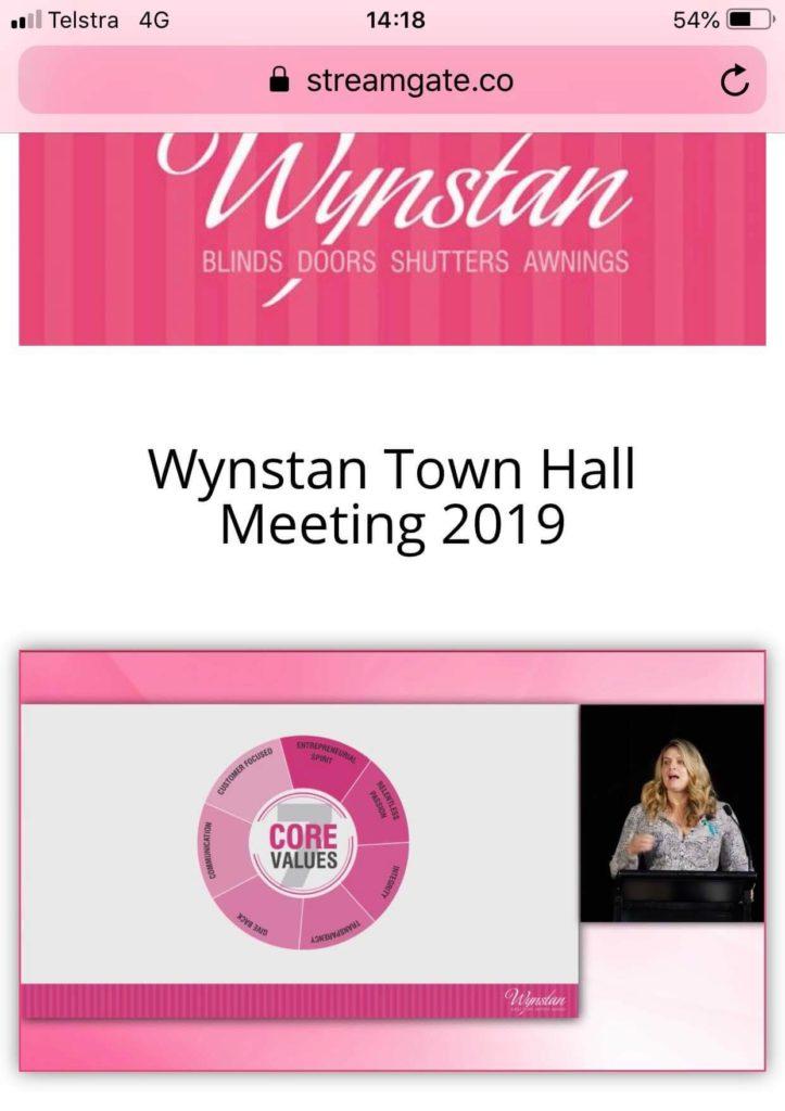 Wynstan Staff Town Hall Live Stream