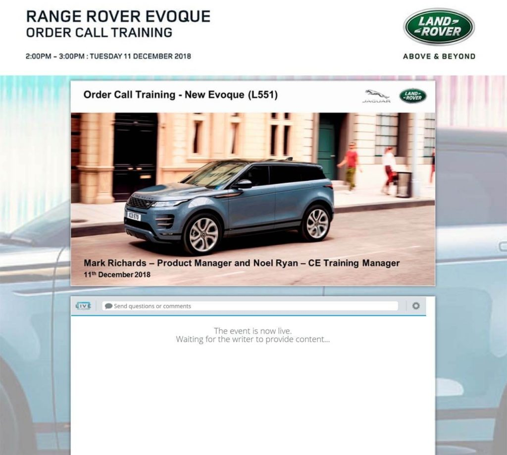 Range Rover Evoque Update