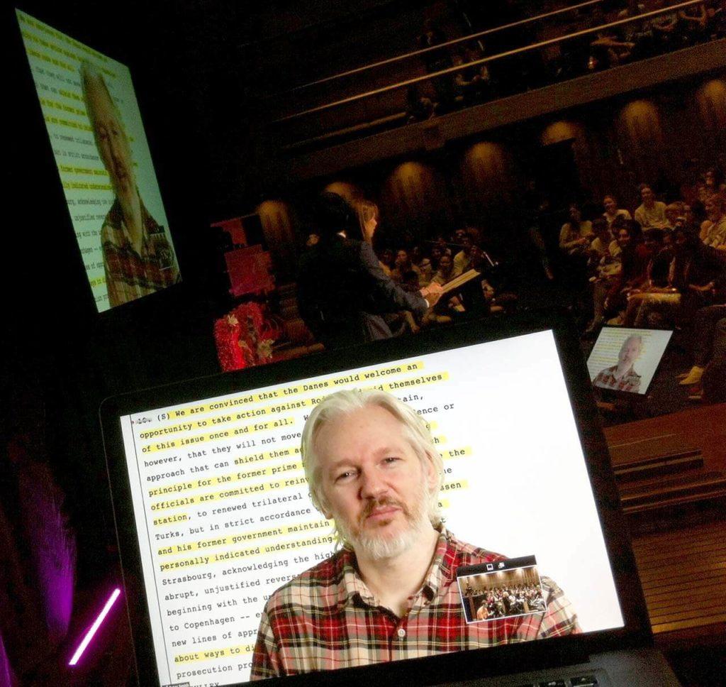 Julian Assange Live Video Conference 2014