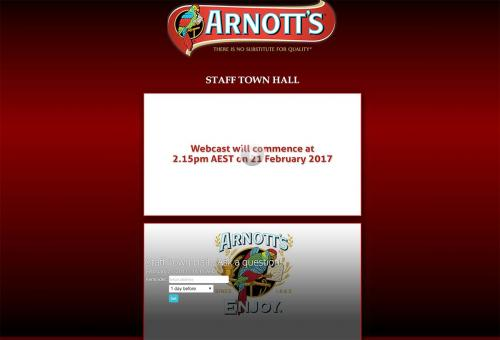 Arnotts Quarterly Staff Town Hall