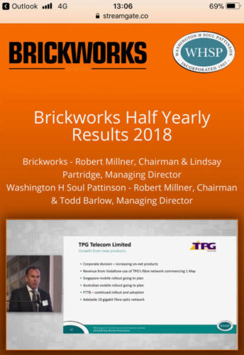 Brickworks Half Yearly Results