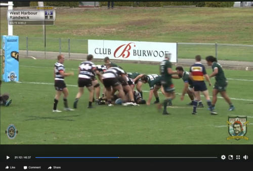 Shute Shield Rugby to Facebook