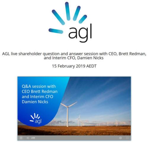 AGL Chat 2019